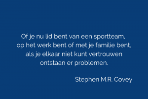 quote vertrouwen Stephen M R Covey